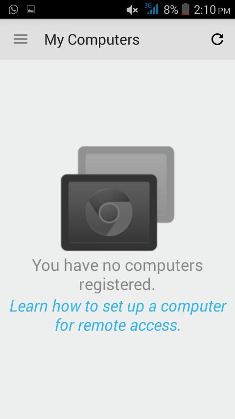 Chrome remote desktop no registered computer now