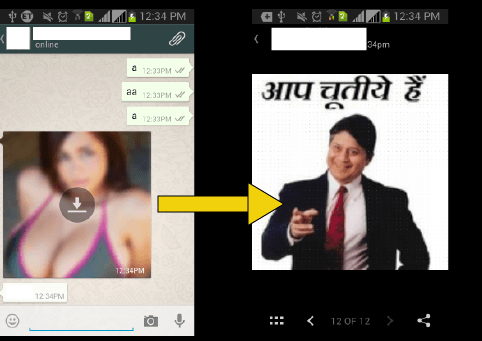 whatsapp trick thumnail change