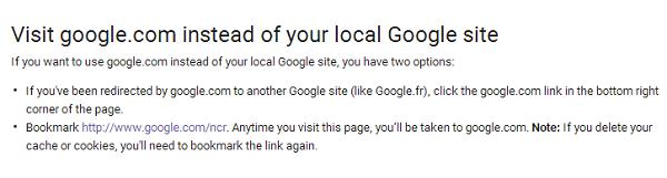 Google-no-redirect
