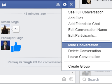 How to stop group chat message notifications on facebook facebook mute ccuart Image collections