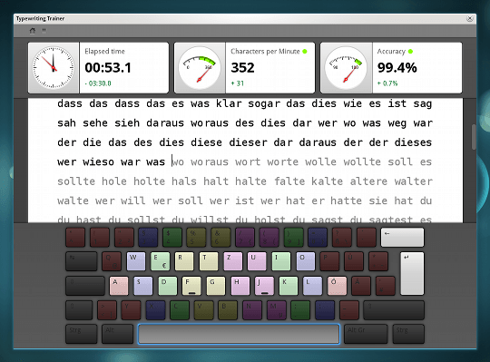 ktouch typing tutor
