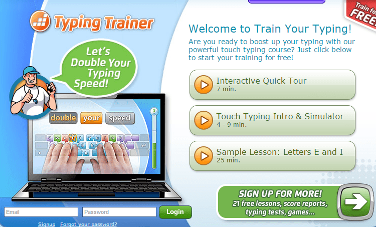 keyboard typing training software