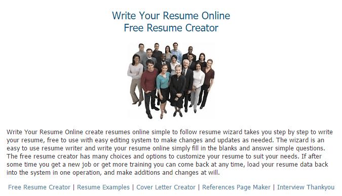 free resume creator - Resume Creator Online Free