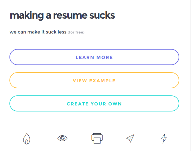 a cool tool to build a short and eye catchy resume for free just use this awesome tool to build a noteworthy resume which is not boring to read and looks