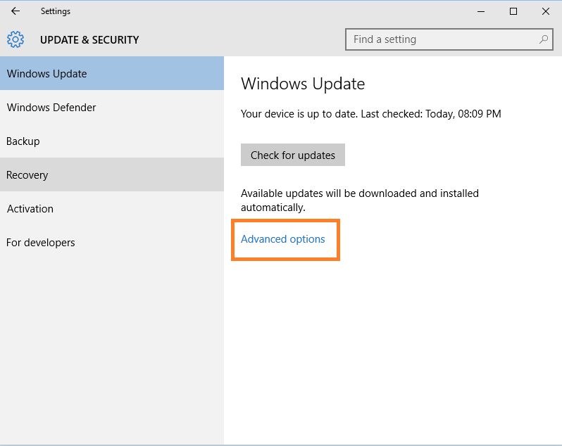 Prevent windows 10 rebooting in sleep mode to install update