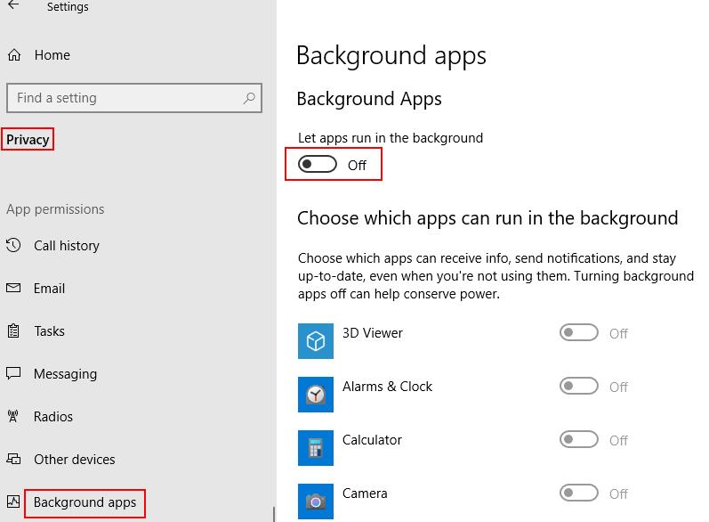Background Apps Min