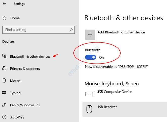 Bluetooth Tuen On