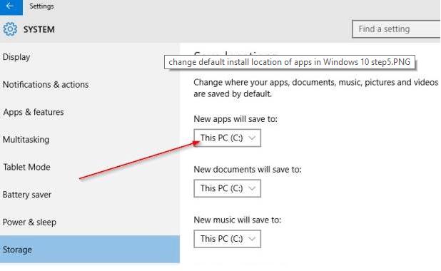 change-installation-folder-windows-10-apps