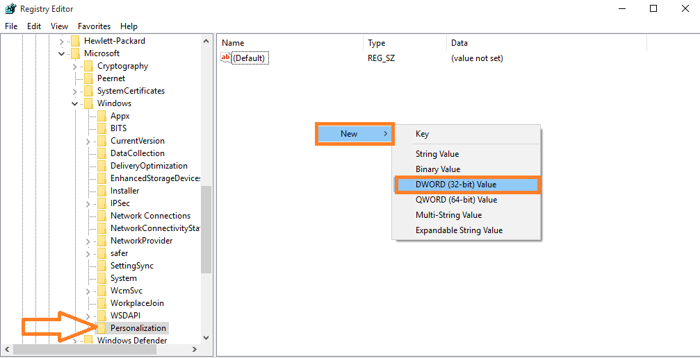 new-dword-32-bit-value-registry