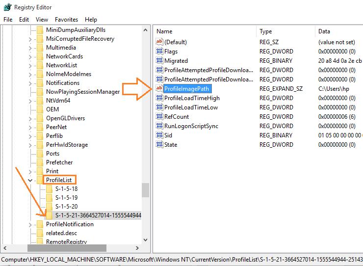 profilelist-registry-editor