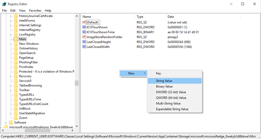 How to change edge download folder default location