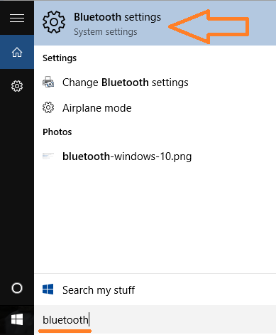 search-bluetooth-settings