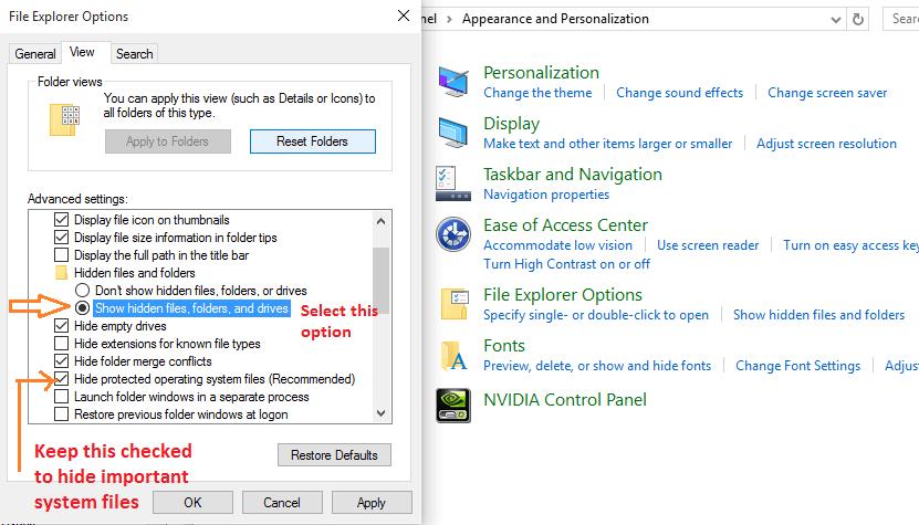 show-hidden-files-windows-10