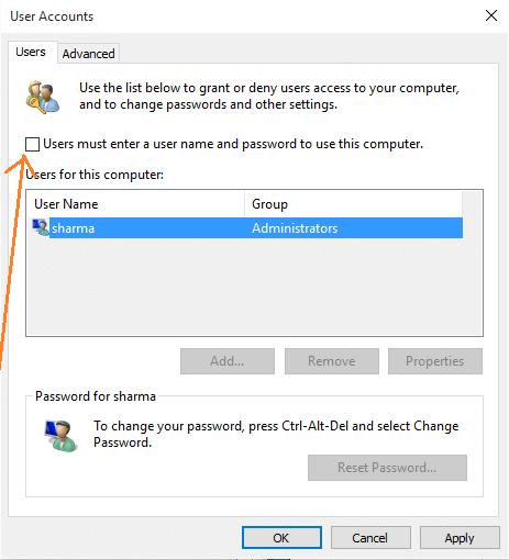 uncheck-user-must-enter-password