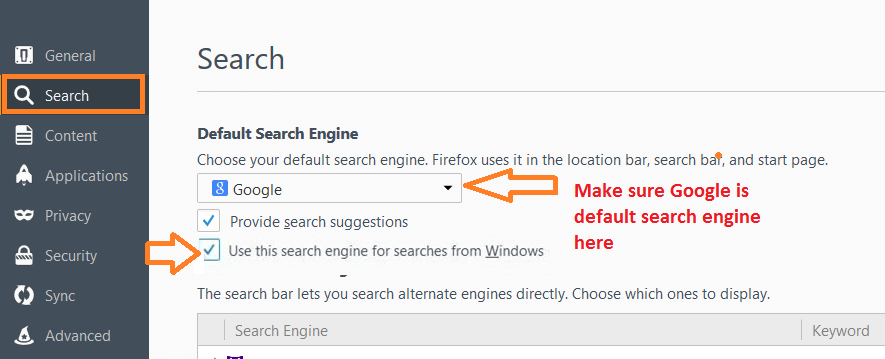 use-google-as-default-search-windows-10-firefox