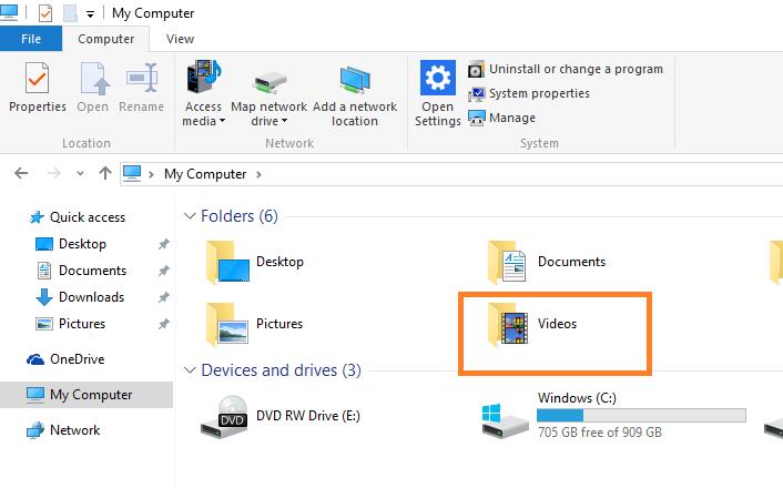 videos-folder-windows-10