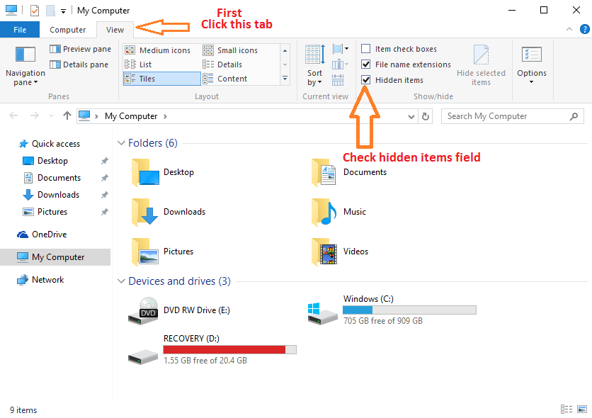 view-hidden-items-file-explorer