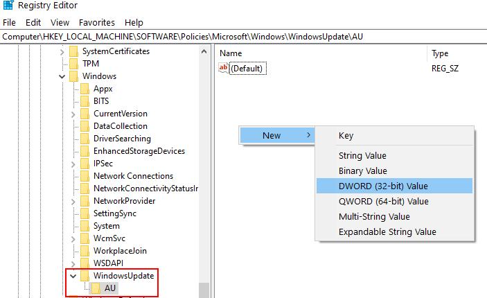 Windows Update Disable Registry Min