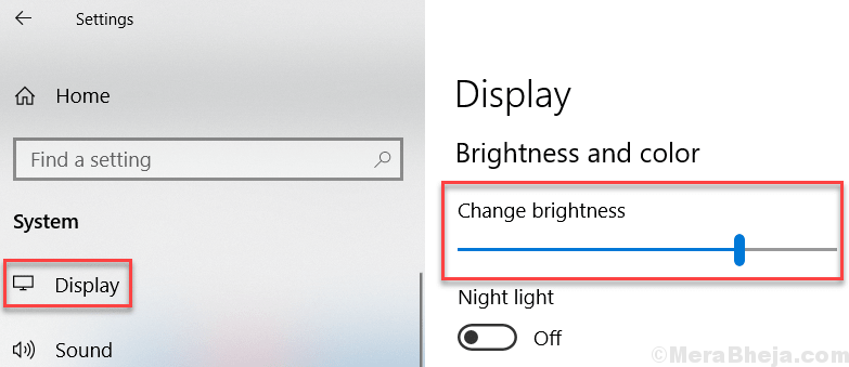 Change Brightness Drag Settings Windows 10 Min