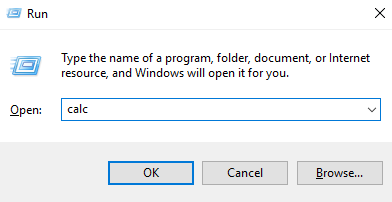 Run Calculator Windows 10 Command