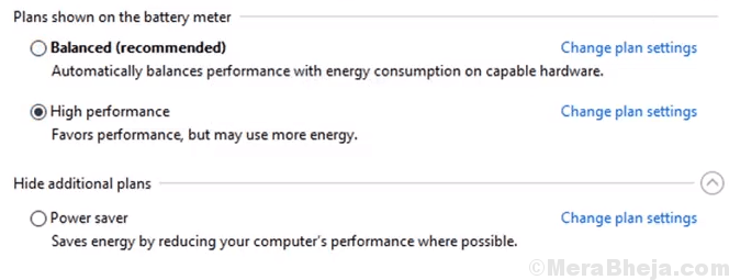High Performance Power Plan Min