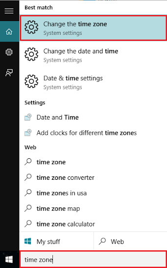 change-time-zone