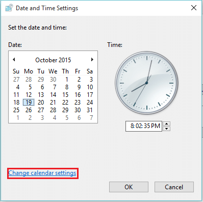 chnage-calendar-settings