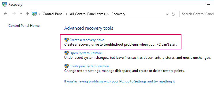 control-panel-recovery-drive