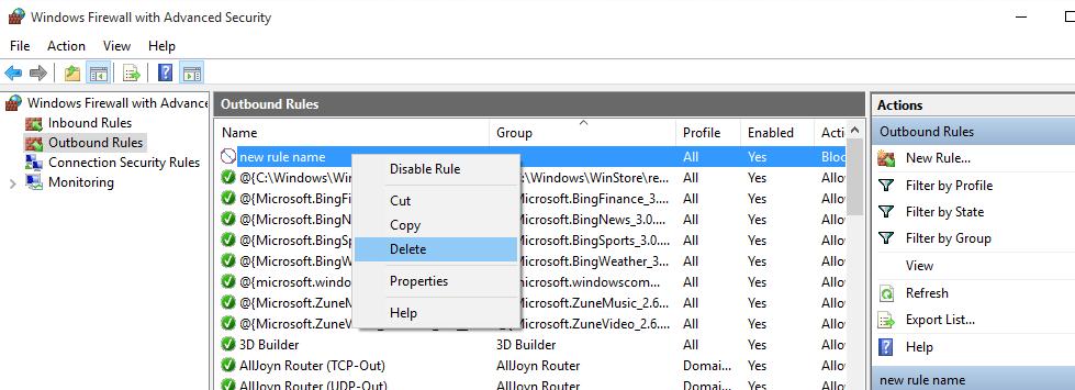 delete-new-rule-created