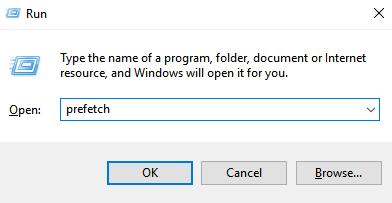 Delete Prefetch Files Windows 10 11