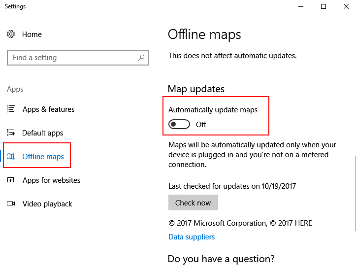 Disable Auto Update Maps
