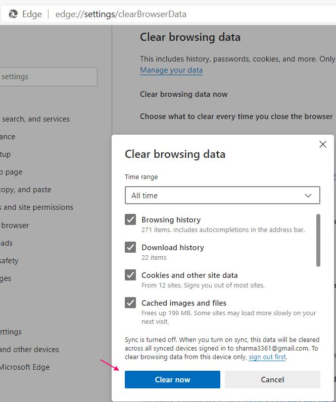 Edge Clear Browsing Data New Min