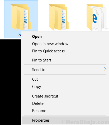 Folder Right Click Context Menu Properties