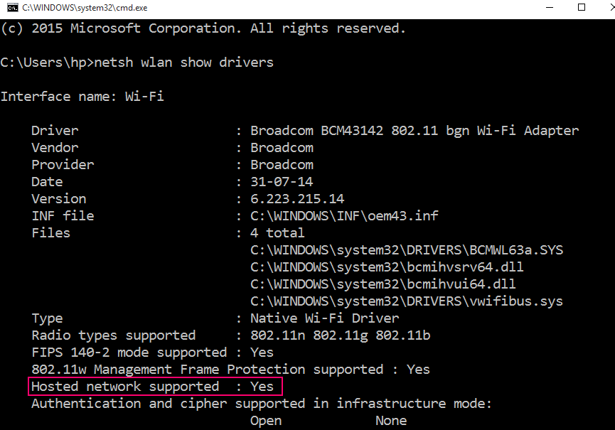 hosted-network-supported
