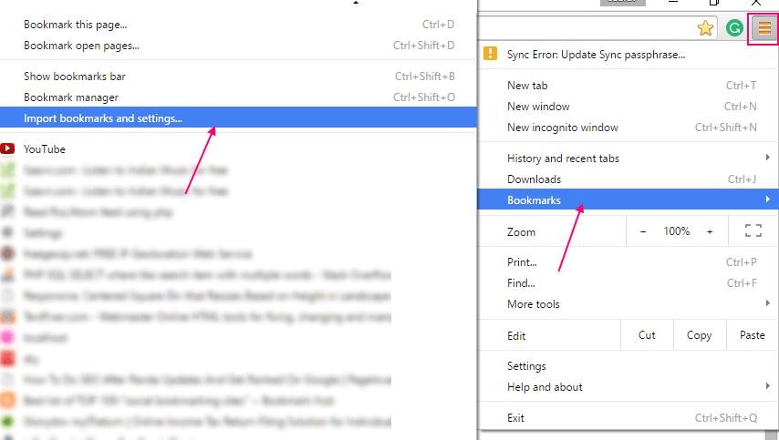 import-bookmark-chrome