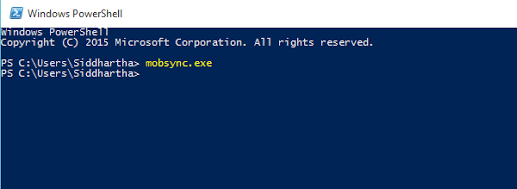 mobsync-powershell