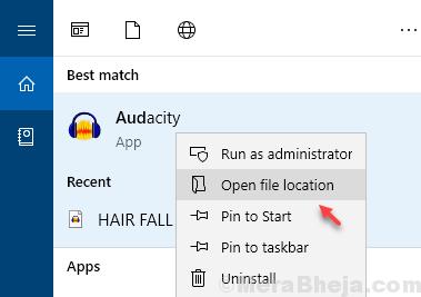 Open File Location Audacity Min