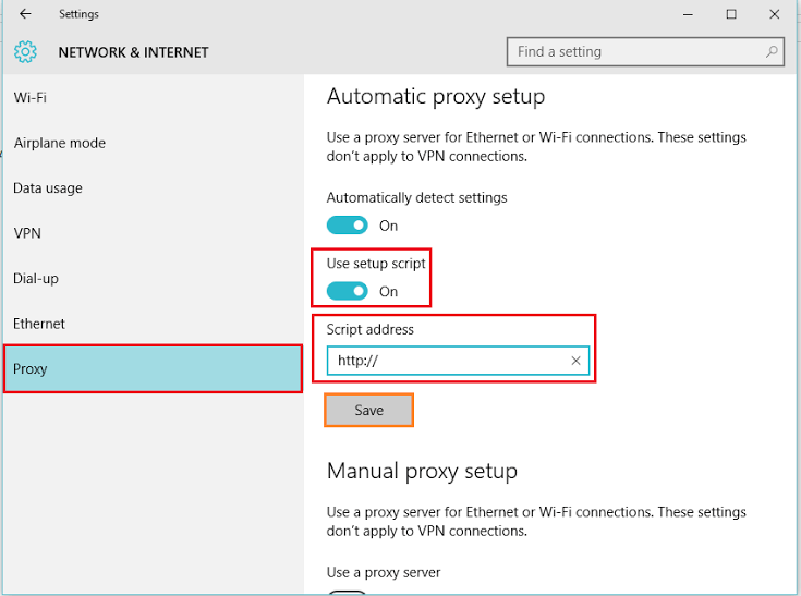 How to Set Up Proxy server in Windows 10