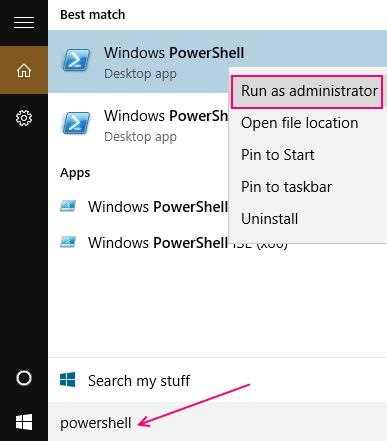 run-powershell-as-admin-win-10