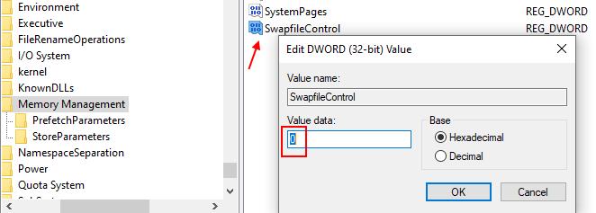 Swapfile Control