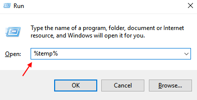 Temp Files Folder From Run