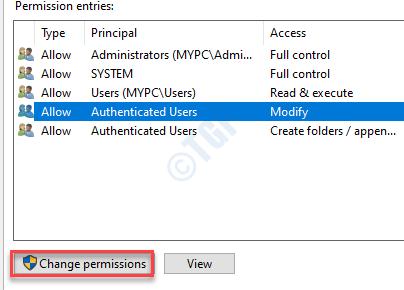Change Permission