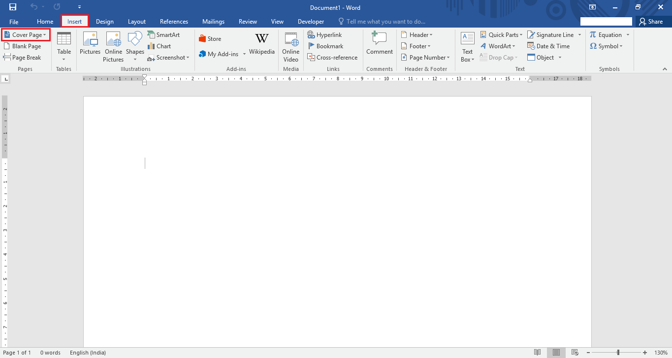 how to create a cover page in microsoft word  cover page office 2016 2