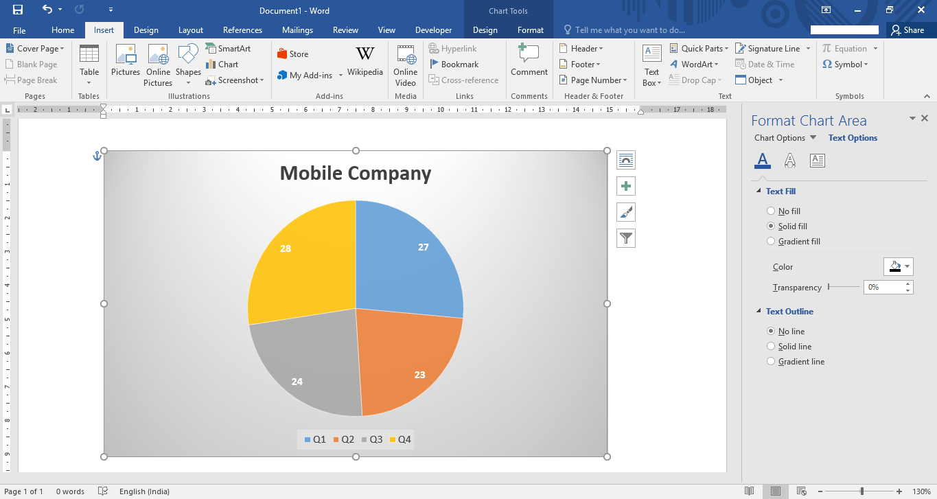 how to edit insert a chart in microsoft word  edit insert chart microsoft word 2016 14