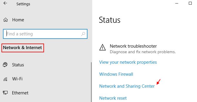 Network Sharing Centre Min