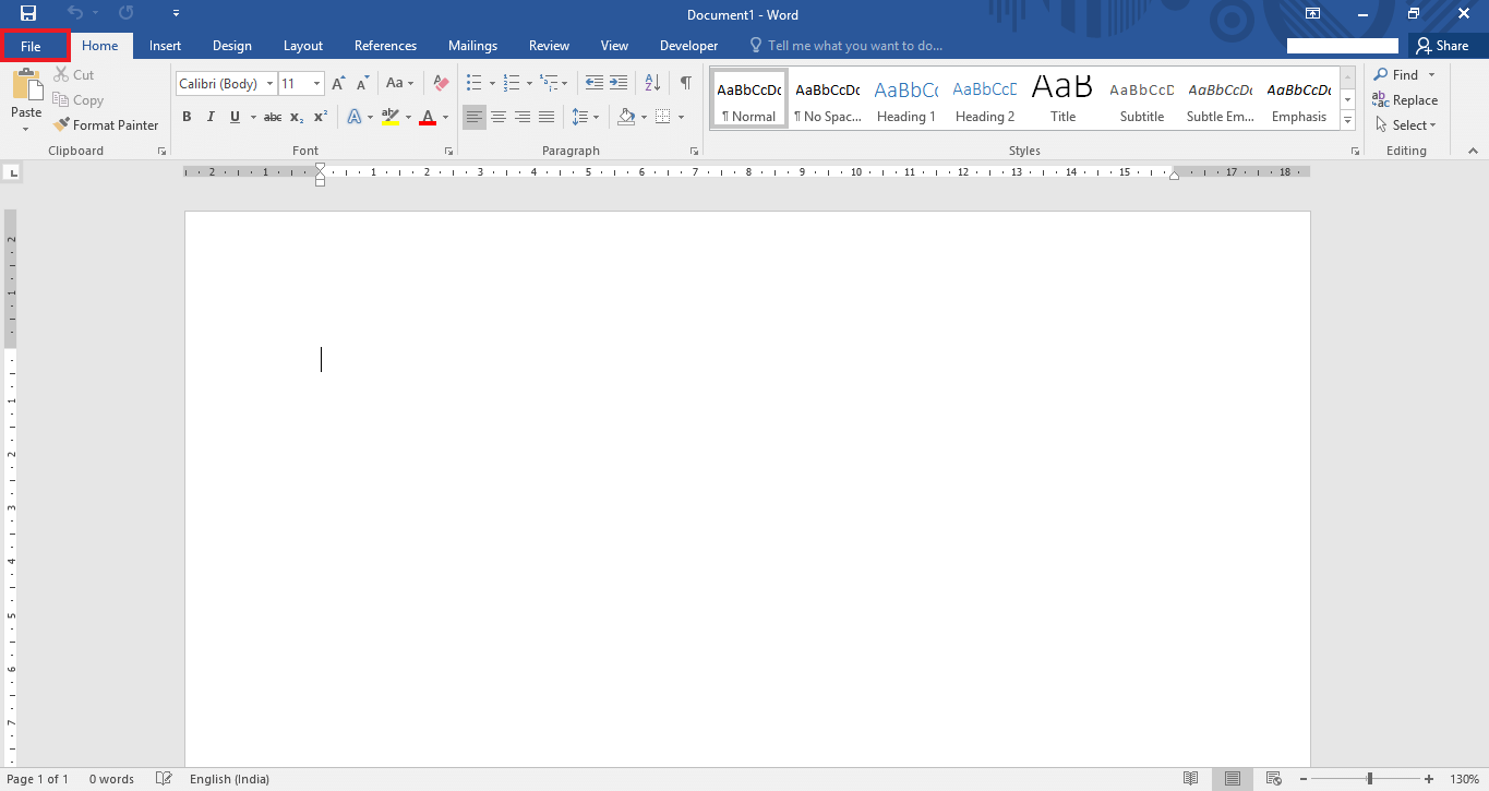 send-word-document-email attachment-Word-2016-2