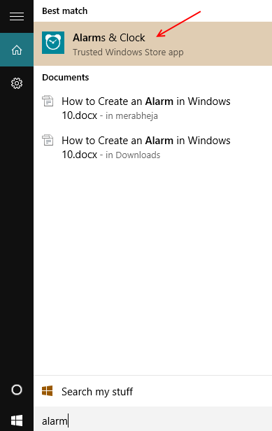 setting-up-alarm-windows-10