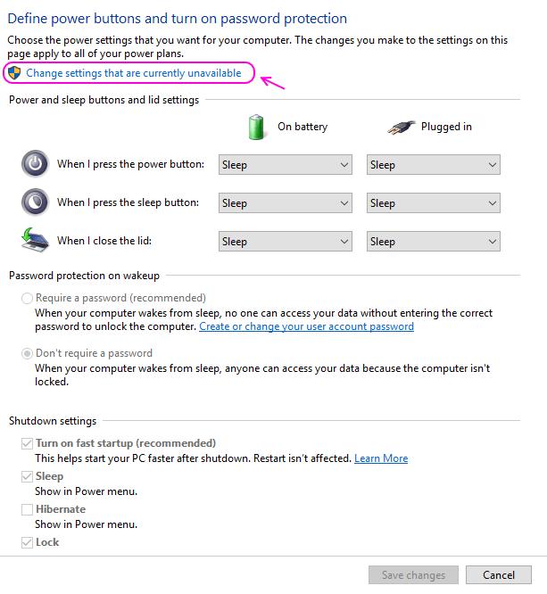 win-10-choose-settings-unavailable-HIBERNATE