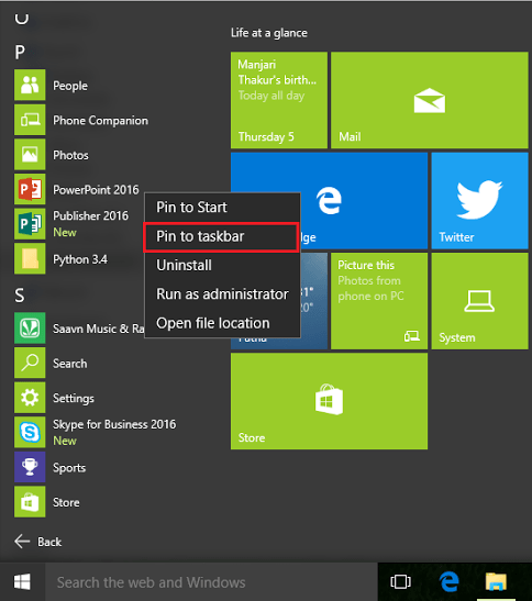 win-10-start-menu-pin-office-app-pin-taskbar