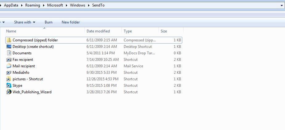 3sendtoFolder